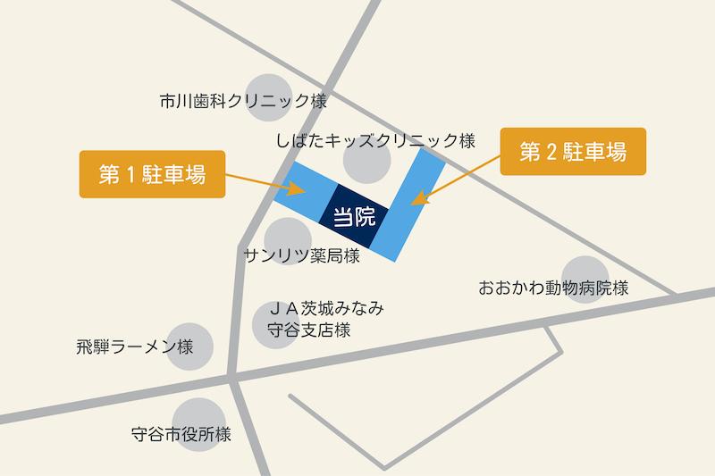 駐車場案内の地図